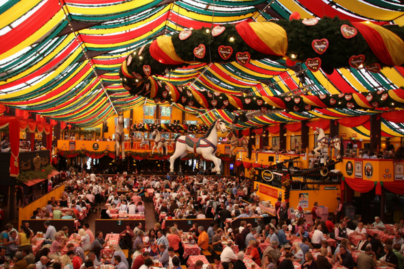 Large brewery tent, Oktoberfest