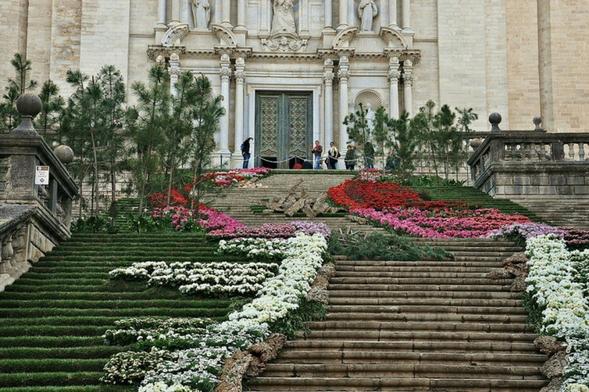 The Flower Festival in Girona