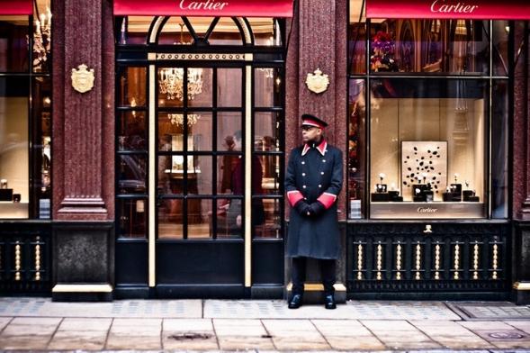 Cartier jewellers in London's New Bond Street.