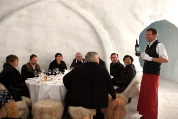 Dinner at Grandvalira Igloo Hotel