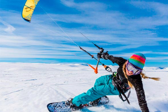 Snowkiting - Simplon Pass